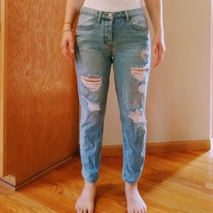 RSQ Distressed straight leg jeans